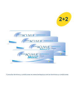 2+2 Pack 1-Day Acuvue Moist para Astigmatismo con LACREON