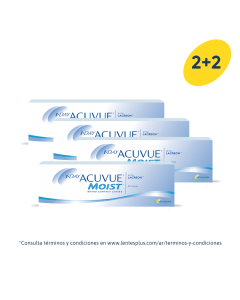 2+2 Pack 1-Day Acuvue Moist con LACREON