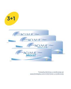 3+1 Pack 1-Day Acuvue Moist con LACREON