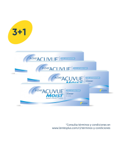 3+1 Pack 1-Day Acuvue Moist para Astigmatismo con LACREON