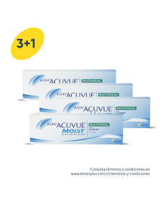 3+1 Pack 1-Day Acuvue Moist Multifocal