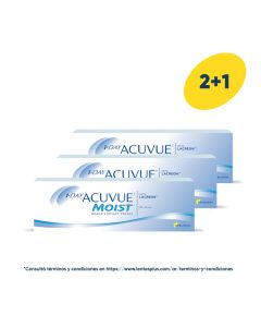 2+1 Pack 1-Day Acuvue Moist con LACREON