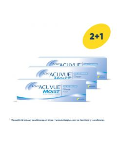 2+1 Pack 1-Day Acuvue Moist para Astigmatismo con LACREON