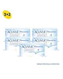 3+2 Pack Acuvue Oasys con HydraClear Plus