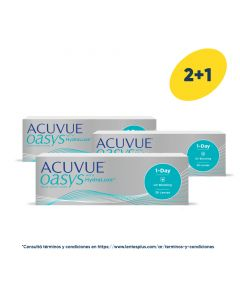 2+1 Pack Acuvue Oasys 1-Day con HydraLuxe