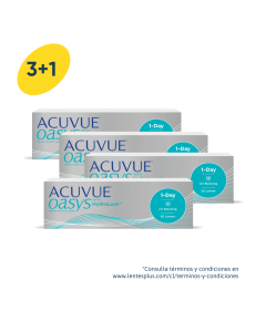 3+1 Pack Acuvue Oasys 1-Day con HydraLuxe