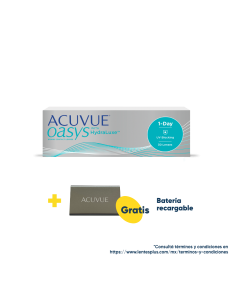 Acuvue Oasys® 1-Day con HydraLuxe™