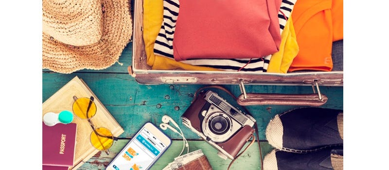 Lentes de contacto viajes
